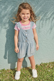 Snap Front Dungarees (3mths-7yrs)