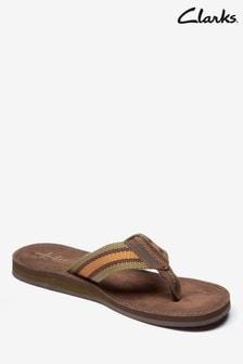 Clarks Brown Lacono Post Sandal