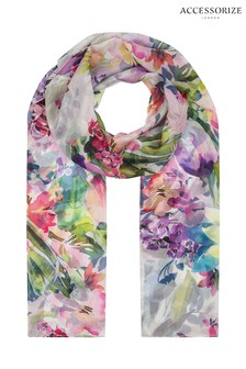 Accessorize Silk Floral Scarf