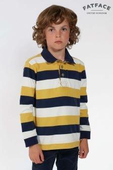 FatFace Blue Wide Stripe Rugby Shirt