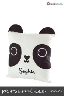 Personalised Panda Novelty Cushion by Loveabode