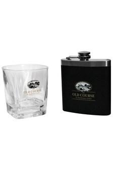 St Andrews Golf Whisky Tumbler and Hip Flask Set