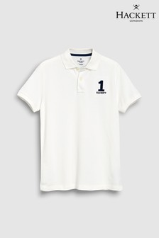 Hackett Kids New Classic White Short Sleeve Polo