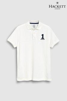 Hackett New Classic White Short Sleeve Polo