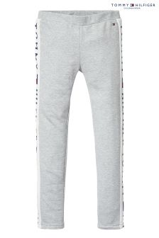 Tommy Hilfiger Girl Grey Brand Logo Leggings