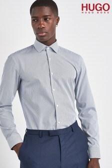 HUGO Navy Koel Stripe Shirt