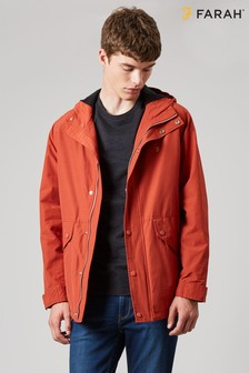 Farah Orange Brodie Hooded Fleece Lined Outerwear