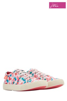 Joules White Coast Pump Lace-Up Trainer