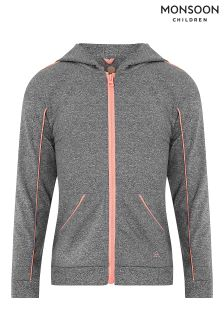 Monsoon Grey Monisha Zip Top