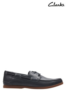 Clarks Navy Morven Sail Shoe