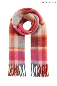 Accessorize Covent Garden Fluffy Check Scarf