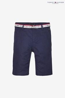 Short chino Tommy Hilfiger Essential à logo et ceinture pour garçon