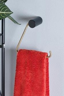 מתקן לנייר טואלט ומגבת, בצורת משולש