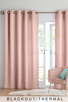 Tassel Edge Eyelet Curtains