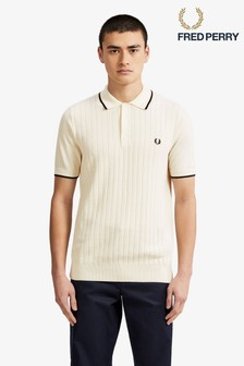 Fred Perry Textured Front Knitted Poloshirt