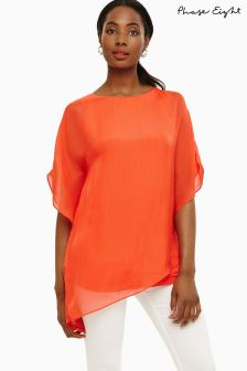 Phase Eight Tangerine Harper Silk Blouse