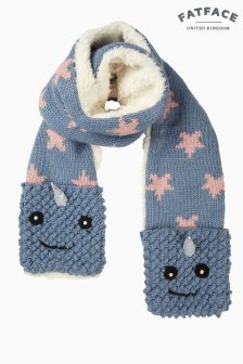 FatFace Blue Nancy Narwhal Scarf