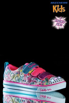 Skechers® Kids Sparkle Lite Metallic Trainer