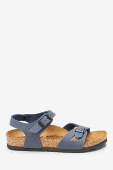 Birkenstock® Kids' Navy Rio Sandal