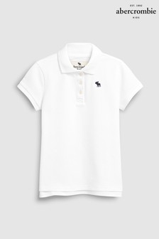 Abercrombie & Fitch White Poloshirt