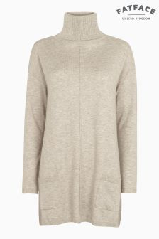 FatFace Natural Suzie Swing Roll Neck Jumper