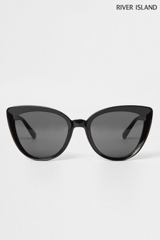 River Island Black Telescopic Sunglasses