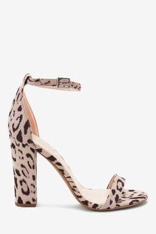 Barely There Block Heel Sandals