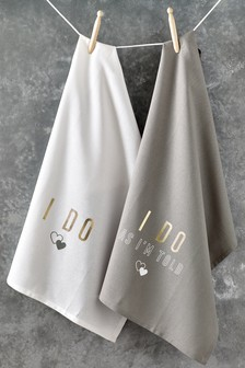 Set of 2 Be Married Tea Towels