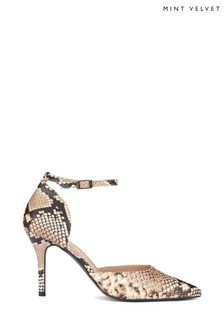 Mint Velvet Animal Imogen Snake Pointed Court