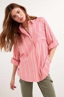 Stripe Oversize Shirt