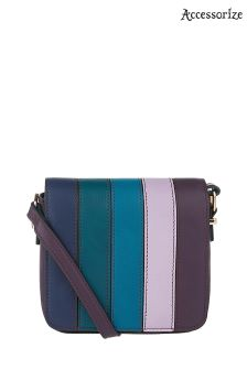 Accessorize Navy Stripe Cross Body Bag