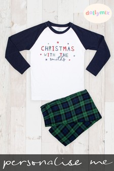 Personalised Mens Family Christmas Pyjamas by Dollymix
