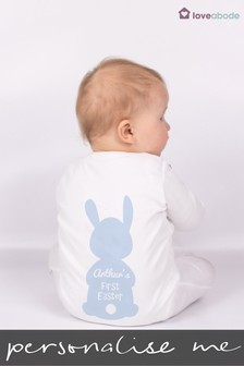 Personalised Easter Bunny Sleepsuit by Loveabode
