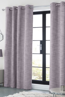 Tweedy Twist Eyelet Lined Curtains