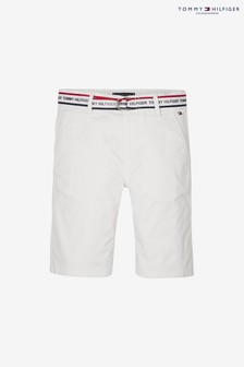 Tommy Hilfiger Boys Essential Logo Belt Chino Short
