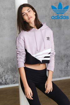 adidas Originals Lilac Soft Vision Cropped Hoody