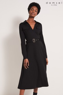 Damsel In A Dress Black Dalby Trench Dress
