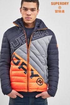 Superdry Navy/Orange Quilted Jacket