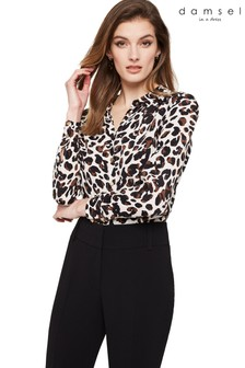 Damsel In A Dress Camel Urban Leopard Blouse