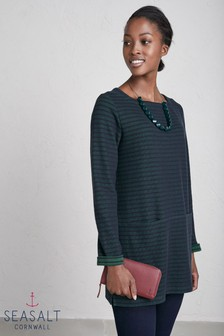 Seasalt Blue Gentle Wave Tunic Tregurrow Dark Night