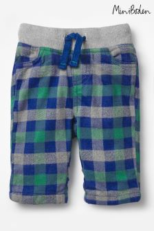 Boden Blue Cosy Checked Trouser