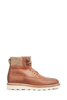 GANT Brown Don Workers Lace-Up Boot