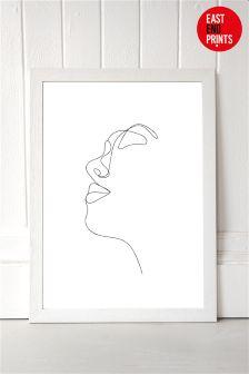 Profile by Rafael Farias Framed Print