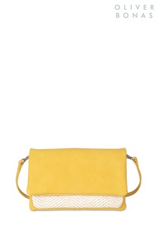 Oliver Bonas Yellow Jenna Pocket Cross Body Bag