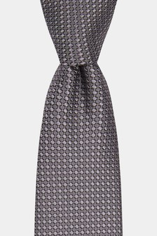 Moss London Silver Textured Tie