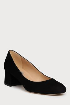 L.K.Bennett Black Niamh Block Heel Court Shoe