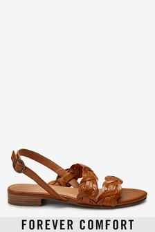 Forever Comfort® Asymmetric Weave Sandals