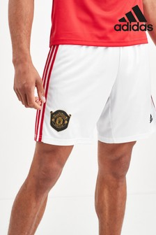 adidas White Manchester United FC 19/20 Short