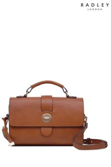 Radley Tan Medium Cross Body Barrel Lock Bag