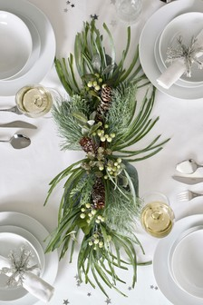 Artificial Winter Foliage Centrepiece